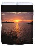 Sunset On Eagle Harbor Duvet Cover