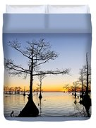Sunset On Lake Mattamuskeet Duvet Cover