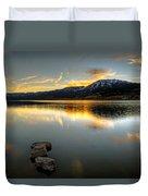 Sunset On Little Washoe Duvet Cover