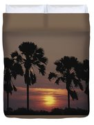 Sunset On Shire River Duvet Cover