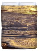 Sunset On Small Wave Duvet Cover