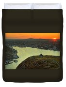Sunset On St. John's Harbour Duvet Cover