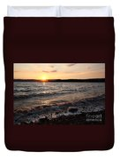 Sunset On The Bay Of Fundy Duvet Cover