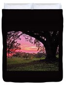 Sunset On The Bench Duvet Cover