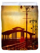 Sunset On The Boardwalk Duvet Cover