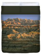 Sunset On The Geological Formations Duvet Cover
