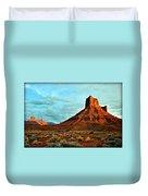 Sunset On The Mesa Duvet Cover
