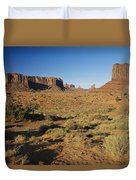 Sunset On Towers Duvet Cover