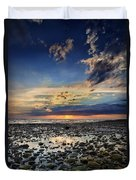 Sunset Over Bound Brook Island Duvet Cover