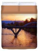 Sunset Over Caveman Bridge Duvet Cover