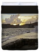 Sunset Over Dubrovnik 2 Duvet Cover