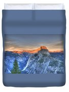 Sunset Over Half Dome Duvet Cover
