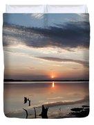 Sunset Over Lovewell Lake Duvet Cover