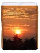 Sunset Over Maine Duvet Cover