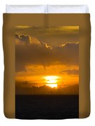 Sunset Over Miami Duvet Cover