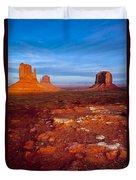 Sunset Over Monument Valley Duvet Cover