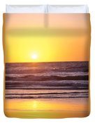 Sunset Over Ocean Duvet Cover