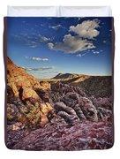 Sunset Over Red Rocks Duvet Cover