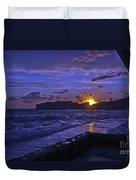 Sunset Over The Adriatic Duvet Cover