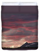 Sunset Over The Colorado Rocky Mountain Continental Divide Duvet Cover