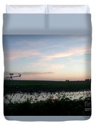 Sunset Over The Fields Duvet Cover
