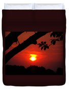 Sunset Over The Golf Course Duvet Cover