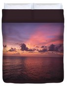 Sunset Over The Gulf Of Mexico Duvet Cover