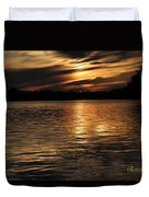 Sunset Over The Lake - 3rd Place Win Duvet Cover