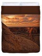 Sunset Over The Rim Of Canyon De Duvet Cover