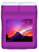 Sunset Over The Sierras Duvet Cover