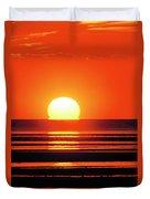 Sunset Over Tidal Flats Duvet Cover