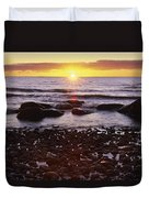 Sunset Over Water, Newfoundland, Canada Duvet Cover