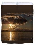 Sunset Paddleboarder Duvet Cover