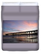 Sunset Pier San Simeon California 1 Duvet Cover
