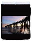 Sunset Pier San Simeon California 2 Duvet Cover