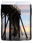 Sunset Pier California 3 Duvet Cover