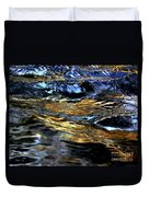 Sunset Reflected On Wave Duvet Cover