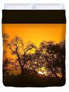 Sunset, Sabi Sand Reserve, Mpumalanga Duvet Cover
