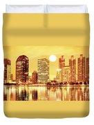 Sunset Scenes Of City Duvet Cover