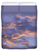 Sunset Sky Over Nipomo, California Duvet Cover