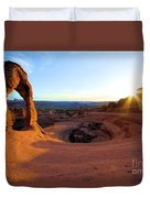 Sunset Starburst Duvet Cover