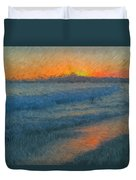 Sunset Surfers Duvet Cover