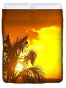 Sunset, Wailea, Maui, Hawaii, Usa Duvet Cover