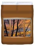 Sunset Window View Duvet Cover
