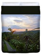 Sunsetting Over Costa Rica Duvet Cover