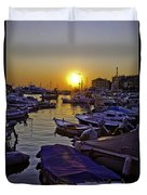 Sunsetting Over Rovinj 2 Duvet Cover