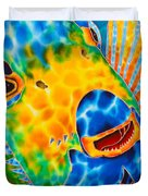Sunshine Angelfish Duvet Cover by Daniel Jean-Baptiste