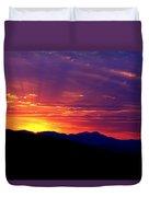 Sunshine Mountain Range Duvet Cover