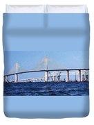 Sunshine Skyway Bridge II Duvet Cover