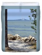 Sunshine Skyway From The Causeway Duvet Cover